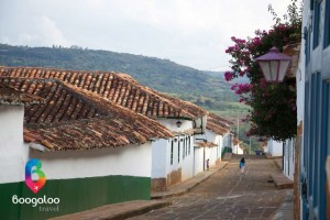 Street in Barichara Colombia Boogaloo Travel