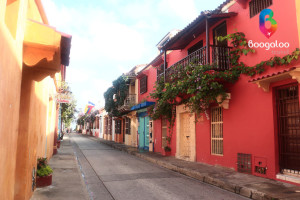 Street in Cartagena Colombia Boogaloo Travel