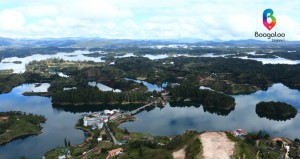 Guatape dam in Colombia Boogaloo Travel