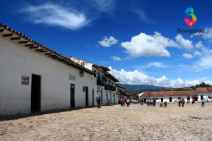 Main plaza in Villa de Leyva Colombia Boogaloo Travel